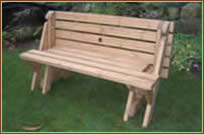 The Garden Bench That Converts To A Picnic Table